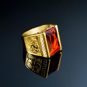 Nhẫn Nam Đá Ruby Phong Thủy NN200CN- Đo UHA