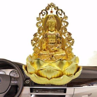 Tượng Phật Quan Âm kiêm lọ nước hoa Rồng Vàng cao cấp F93 (C) (Vàng kim)