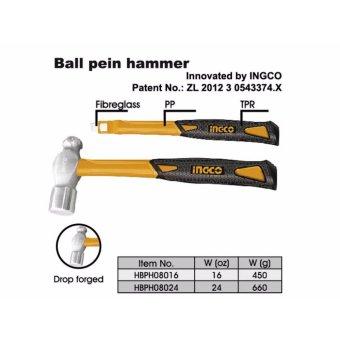 Búa đầu tròn Ingco 450G - HBPH08016