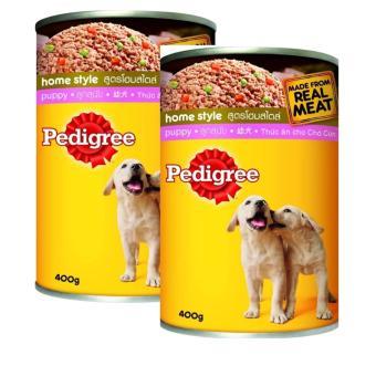 Bộ 2 hộp Thức Ăn Cho Chó Con Pedigree Puppy Lon 400gx2