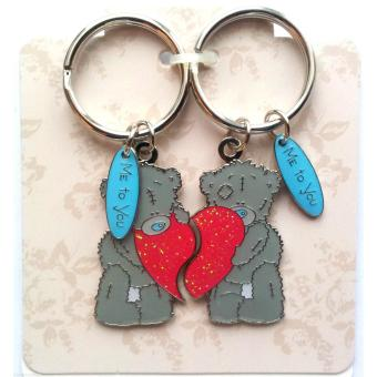 Móc treo chìa khóa hàng hiệu Me to You - Tatty Teddy Bears 2 Part Love Keyring