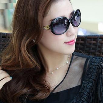 Kính mát nữ thời trang phong cách Hàn Quốc loaị 1 + tặng bao da H175(Đen)