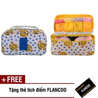 Túi du lịch đựng đồ đa năng Flancoo 7446 (Trắng) + Tặng kèm thẻ tích điểm Flancoo