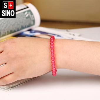 Vòng tay thạch anh màu đỏ mận Sino VTSN045
