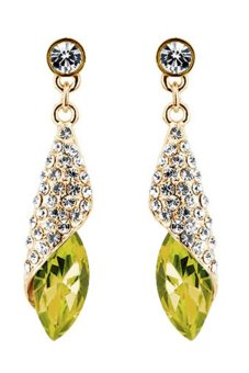 Bluelans Teardrop Earrings (Gold Yellow) - Intl