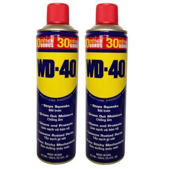 COMBO 2 chai WD-40 xịt chống rỉ, bôi trơn đa năng 412ml