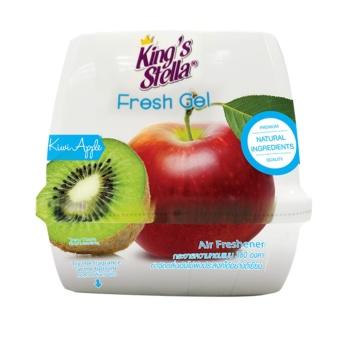 Sáp thơm mùi táo kiwi dùng cho xe hơi và phòng làm việc KING'S STELLA FRESH GEL