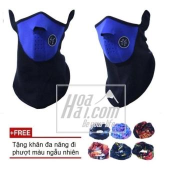 Khẩu trang ninja đi phượt LXmax (Xanh) + Tặng kèm khăn đa năng