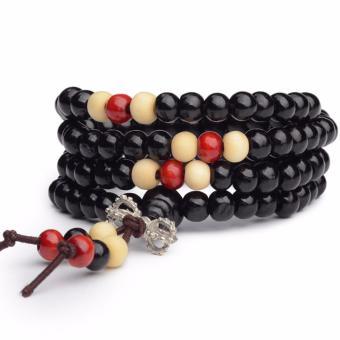 Vòng chuỗi hạt đeo tay tràng hạt 108 hạt đen 8mm nam thời trang
