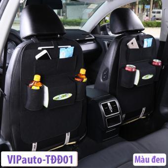 Bộ 02 sản phẩm Túi đựng đồ ghế sau xe ô tô VIPauto-TĐĐ01 (Đen)