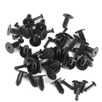Nylon Push-Type Retainers Clips for Benz BMW 1249900492 30Pcs - Intl