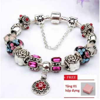 Vòng đeo tay mạ bạc trang sức 3D hạt charms cao cấp Jewelry Queen Victoria Charm Panda DZ62 (Bạc) + tặng hộp đựng