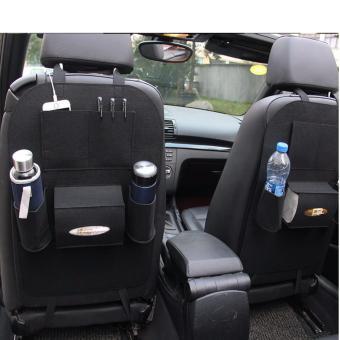 Bộ 2 yếm đựng đồ sau ghế xe hơi, ô tô cao cấp BT99.89(đen)