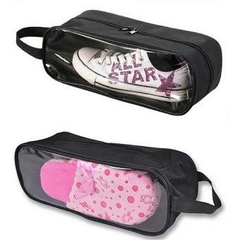 Bộ 2 túi đựng giày du lịch tiện dụng (Đen)