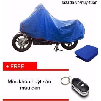 Bạt che xe máy ( màu xanh ) + free móc khóa huýt sáo thông minh ( Đen )