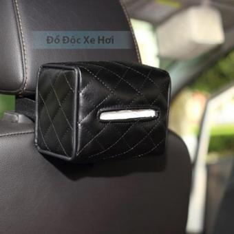 Hộp đựng khăn giấy trên ô tô (Đen)