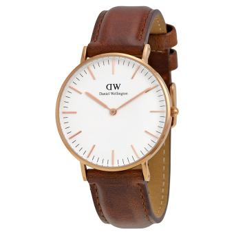 Đồng hồ nữ dây vải Daniel Wellington 0507DW (Nâu).