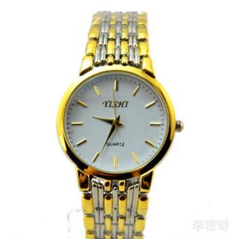 Đồng hồ dây thép kim loại (Vàng chảnh)