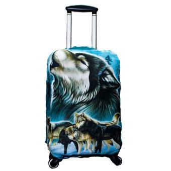 Túi (bao) Bảo Vệ Vali sói xanh 3D size S