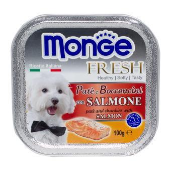 Pate bổ sung dưỡng chất cho chó vị cá hồi Monge Salmon (Ý)