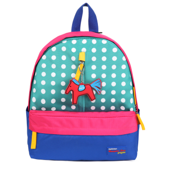 Patchwork Backpack kids School Bag (White Dots) - INTL