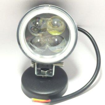 Đèn Fa led Thanh Khang trợ sáng T4 bi cầu có vòng angel ánh sáng trắng xanh