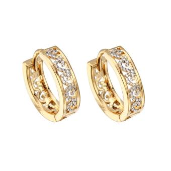 Womenen' Fahion Engageent 18K God Pated Rhinsetone Earring