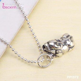Bộ dây chuyền liền mặt nữ trang sức bạc Thái S925 Bạc Xinh PP1372