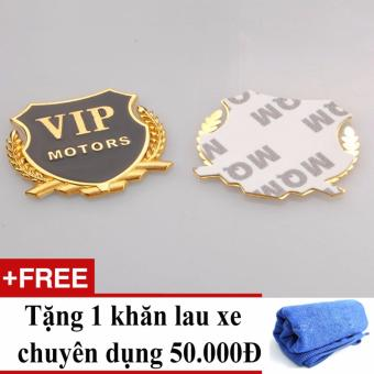 Huy hiệu vip + Tặng 01 khăn lau xe chuyên dụng