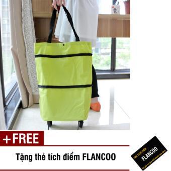 Túi xách có bánh xe kéo Flancoo 2651 (Xanh lá) + Tặng kèm thè tích điểm Flancoo