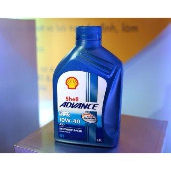 Nhớt xe tay ga cao cấp Shell ADVANCE AX7 SCOOTER 10W40 800ml