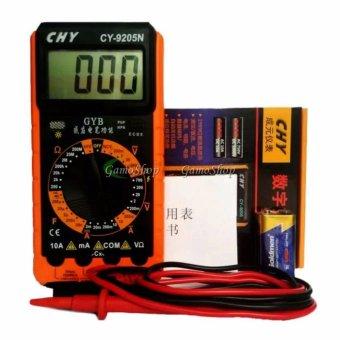 Đồng hồ đo vạn năng CHY CY9205N kèm pin 9V chuyên sửa điện tử (Cam)