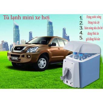 Tủ lạnh mini di động 7.5L cho ô-tô, xe hơi