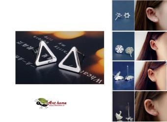 Bông tai nữ và nam (Khuyên tai) hình tam giác đơn giản theo phong cách Châu Âu (BT12)