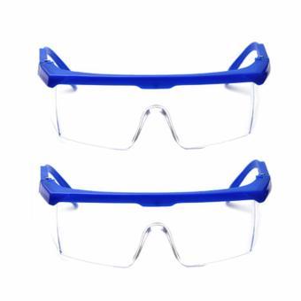 Bộ 02 kính mát đi đường chống bụi bảo vệ mắt (xanh dương)