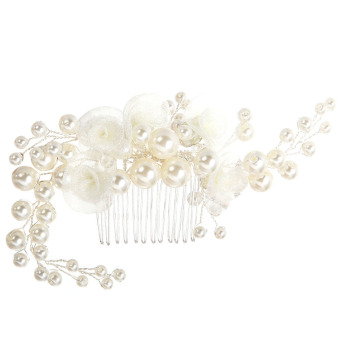 The Bride Lace Pearl Combs Hair Accessories (Intl)