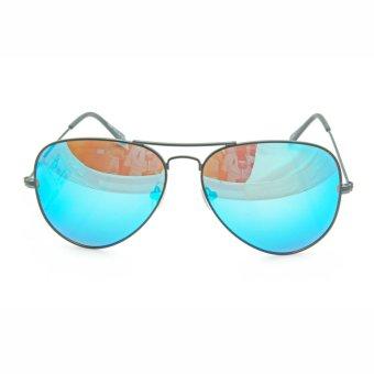 Kính mát unisex thời trang 3D-DLP SV3026-F7A5-DTTX (Đen tráng thủy xanh) + Tặng 1 đôi vớ màu ngẫu nhiên (Trắng - Xám - Đen)