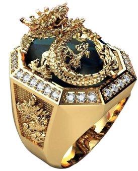 Nhẫn nam bạc mạ vàng 18k đá thạch anh - NNAM57