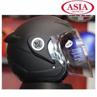 Mũ Bảo Hiểm ASIA M168 Kính Khói ( Đen Nhám)