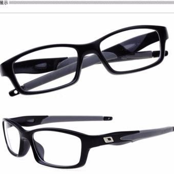 Mắt kính nam gọng vuông dẻo giả cận công sở+Tặng bao da H182(Đen)