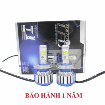 Bộ 2 bóng đèn led ô tô Hv shop turbo T1-H4 6000k (40W)