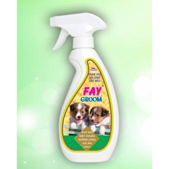 Khử Mùi dưỡng lông cho chó mèo Fay Groom 400ml