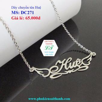 Dây chuyền Inox Nữ tên HUỆ siêu xinh DC271 (TRẮNG)