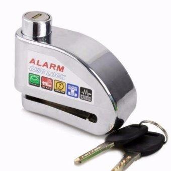 Khóa đĩa báo động xe máy Alarm Disc Lock (Trắng Bạc)