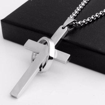 Dây chuyền Thánh giá lồng nhẫn thép không gỉ