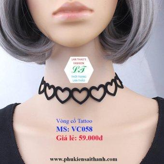 Vòng cổ tattoo tim liên kết siêu xinh VC058 (ĐEN)