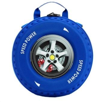 Ba lô bánh xe 3D cho bé (Xanh)