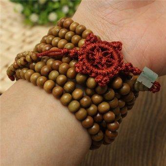 Sandalwood Buddhist Buddha Meditation 216 Prayer Bead Mala Bracelet/Necklace - Intl