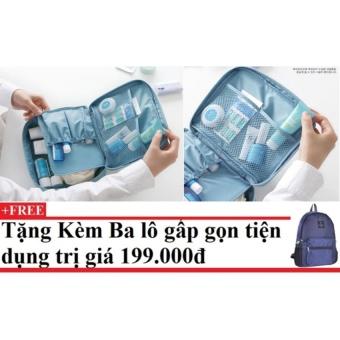 Túi du lịch đựng đồ cá nhân Monopoly (xanh dương) + Tặng kèm balo du lịch gấp gọn