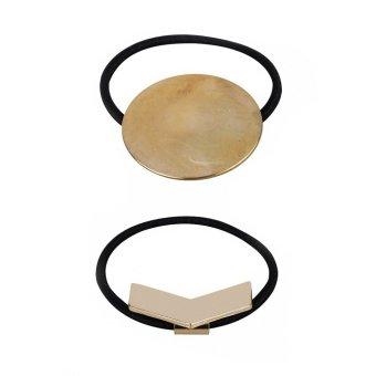 Bộ 2 cột tóc hình học Chiclala Accessories